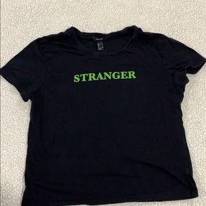 Forever 21 Stranger tee sz L